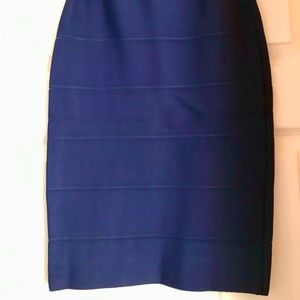 Bcbg classic navy pencil skirt